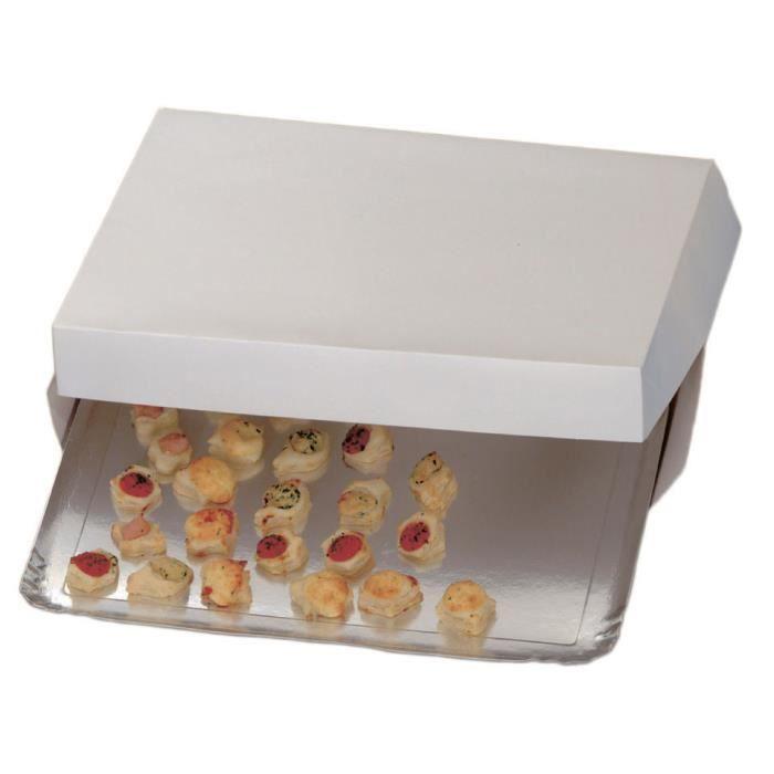 boite carton blanc pour plateau traiteur 100 boites. Black Bedroom Furniture Sets. Home Design Ideas