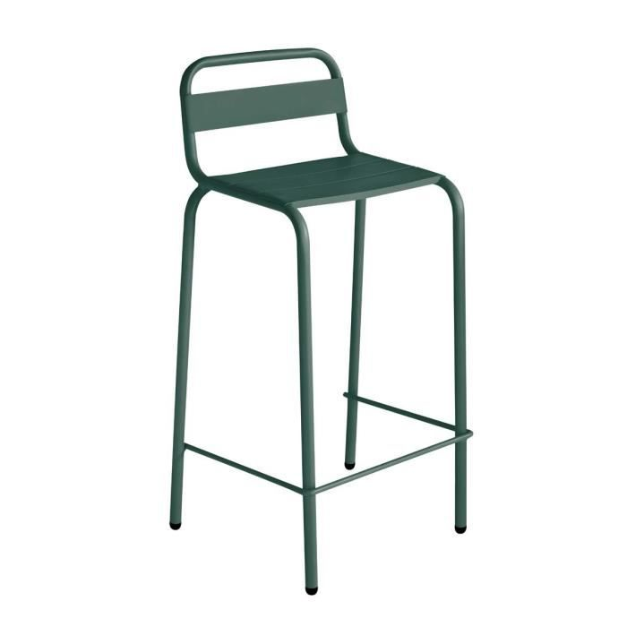 Tabouret de bar outdoor visalia couleur vert mousse achat vente fauteuil - Tabouret de bar vert ...