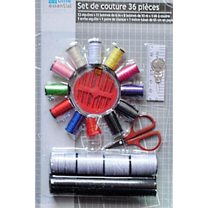 Set couture mercerie 36 pcs aiguilles bobines de c achat for Couture mercerie