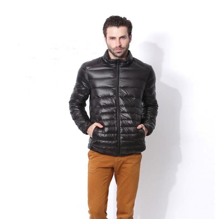 doudoune manteau court homme 90 duvet parka l g ret col haut zipp sans capuche grande taille. Black Bedroom Furniture Sets. Home Design Ideas
