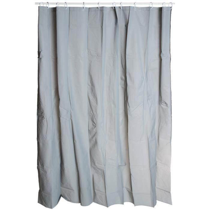 rideau de douche uni gris achat vente rideau de douche cdiscount. Black Bedroom Furniture Sets. Home Design Ideas