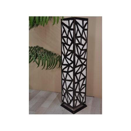 lampe poser au sol carr e en acier d co blanc achat vente lampe poser au sol carr e. Black Bedroom Furniture Sets. Home Design Ideas