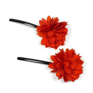 accessoire cheveux fleur rouge. Black Bedroom Furniture Sets. Home Design Ideas