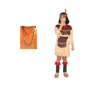DÉGUISEMENT - PANOPLIE Déguisement indienne fille avec plumes et collier