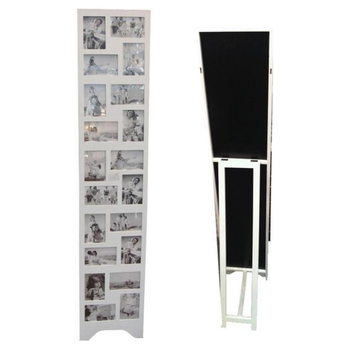 cadre photos p le m le sur pied 20 vues blanc achat vente p le m le photo bois mdf carton. Black Bedroom Furniture Sets. Home Design Ideas
