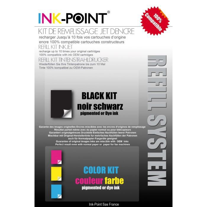 kit recharge jet d 39 encre noire pour hp 950 951 prix. Black Bedroom Furniture Sets. Home Design Ideas