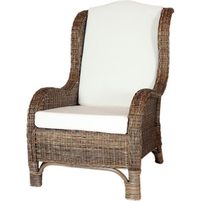 fauteuil nassau rotin couleur gris taupe et achat vente fauteuil gris cdiscount. Black Bedroom Furniture Sets. Home Design Ideas