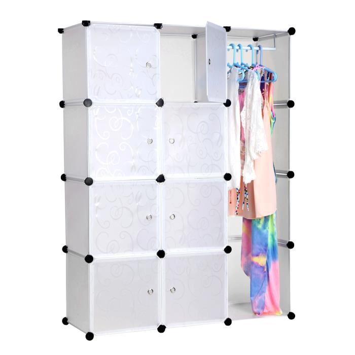 placard rangement garde robe pliant combinaison portable organisateur achat vente armoire de. Black Bedroom Furniture Sets. Home Design Ideas