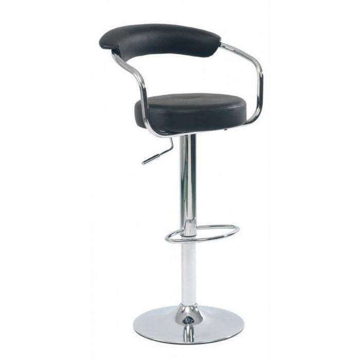 tabouret de bar avec accoudoirs noir lot de 2 achat vente tabouret de bar cdiscount. Black Bedroom Furniture Sets. Home Design Ideas