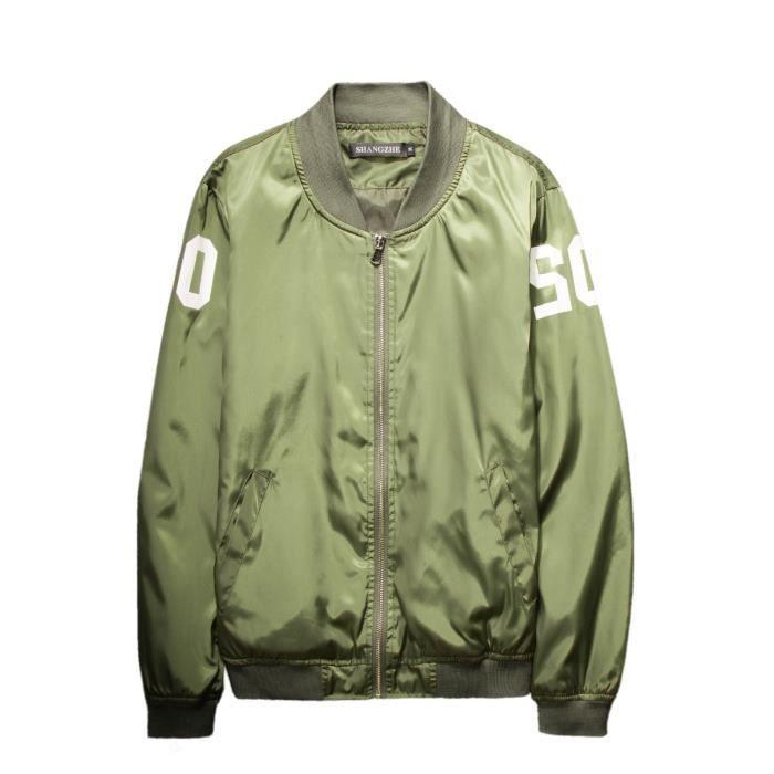 Homme manteau veste d contract noir vert vert vert achat vente manteau caban cadeaux de - Veste homme decontracte ...