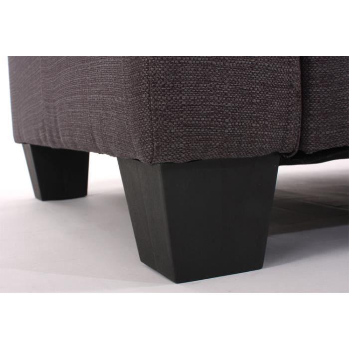 fauteuil modulable partie de coin lyon anthraci achat vente fauteuil cdiscount. Black Bedroom Furniture Sets. Home Design Ideas