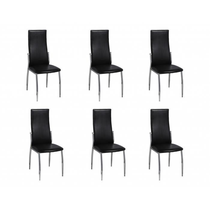 Chaise de salle manger alu lot de 6 achat vente for Lot de 6 chaises de salle a manger