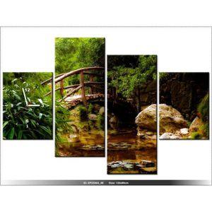120 x 80 cm paysage jardin japonais horloge murale - Tableau jardin japonais ...