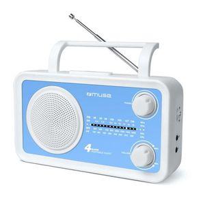 Radio Lecteur K7 CD et MP3 MUSE M05BL BLEU