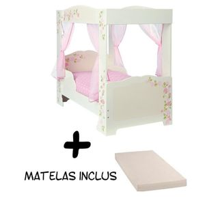 lit baldaquin enfant achat vente lit baldaquin enfant pas cher cdiscount. Black Bedroom Furniture Sets. Home Design Ideas