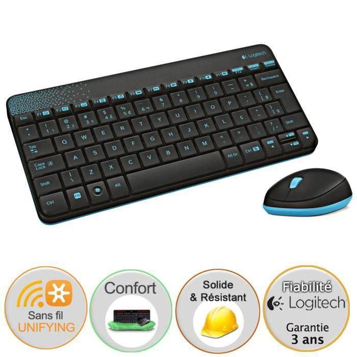 logitech pack clavier souris sans fil mk240 prix pas cher cdiscount. Black Bedroom Furniture Sets. Home Design Ideas