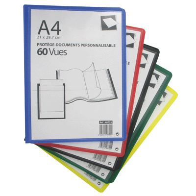 Prot ge documents personnalisable 60 vues assorti achat for Protege document 60 vues