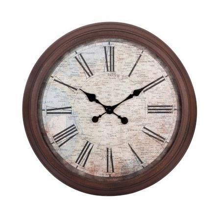 grande horloge murale vintage carte de france m achat. Black Bedroom Furniture Sets. Home Design Ideas