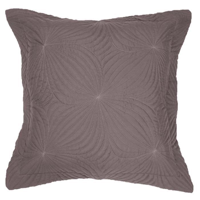 housse de coussin boutis 40 cm florencia taupe achat vente housse de coussin cdiscount. Black Bedroom Furniture Sets. Home Design Ideas