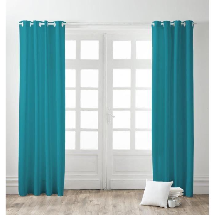 double rideaux bleu achat vente double rideaux bleu. Black Bedroom Furniture Sets. Home Design Ideas