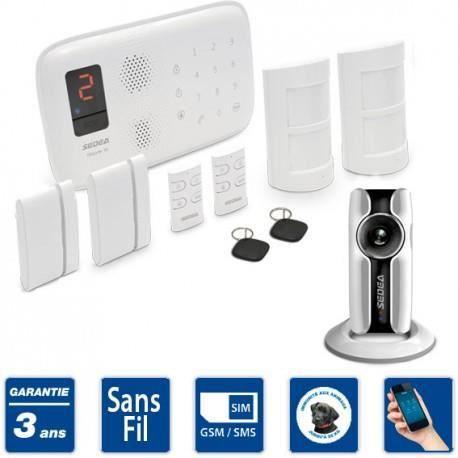 sedea alarme maison sans fil gsm elegante 50 kit e3 achat vente kit alarme cdiscount. Black Bedroom Furniture Sets. Home Design Ideas