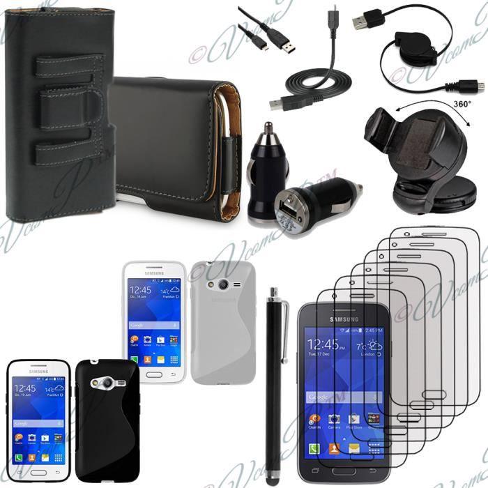 Pour samsung galaxy trend 2 lite sm g318h noir lot etui housse coque pochette accessoires - Accessoires samsung galaxy trend lite ...