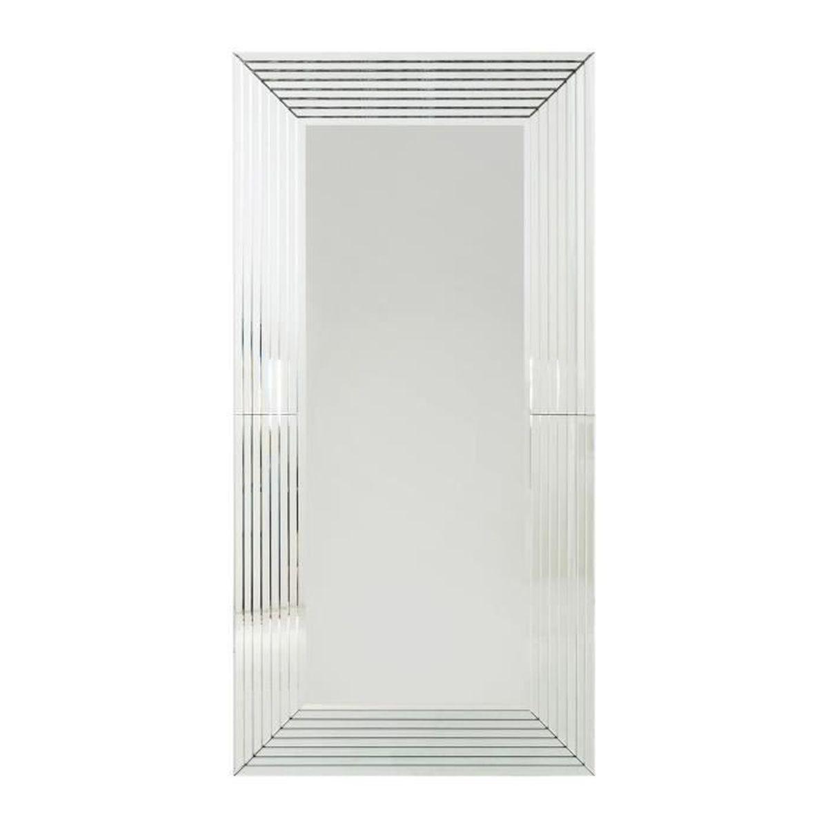 miroir linea 200x100cm kare design achat vente miroir soldes cdiscount. Black Bedroom Furniture Sets. Home Design Ideas