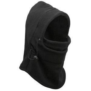 BONNET - CAGOULE Cagoule Masque Thermique Noir Polyester Couverture