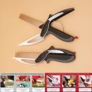 clever cutter 2 en 1 ciseaux et couteau planche a decouper achat vente clever cutter 2 en 1. Black Bedroom Furniture Sets. Home Design Ideas