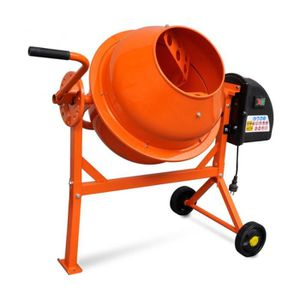 BÉTONNIÈRE Superbe Bétonnière électrique en acier orange 63 L