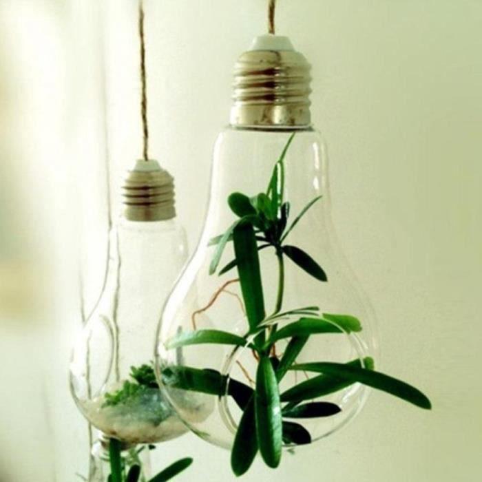 ampoule de verre forme fleur usine d 39 eau suspendus vase maison de conteneur int rieure bureau. Black Bedroom Furniture Sets. Home Design Ideas