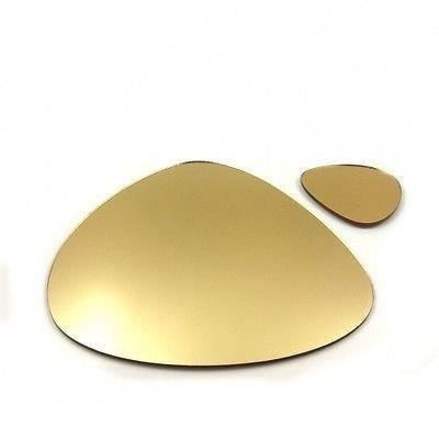 6 napperons de caillou et sous verres miroir d 39 or achat for Miroir acrylique incassable