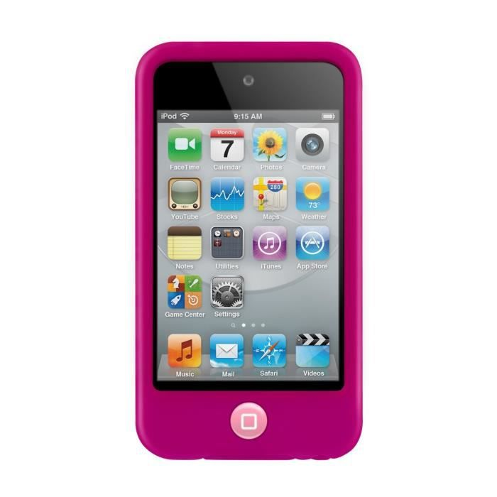 Coque housse silicone rouge pingouin pour ipod touch 4 for Housse ipod touch