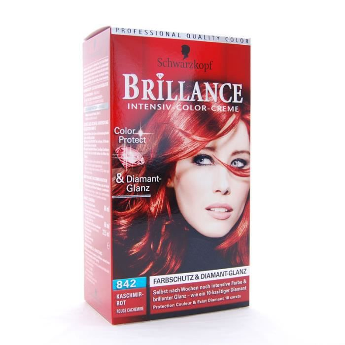 coloration brillance de schwarzkopf n842 rouge cachemire - Prix Coloration Schwarzkopf