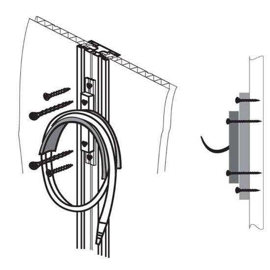 kit de fixation murale achat vente coffre d 39 ext rieur abris de jardin cdiscount. Black Bedroom Furniture Sets. Home Design Ideas