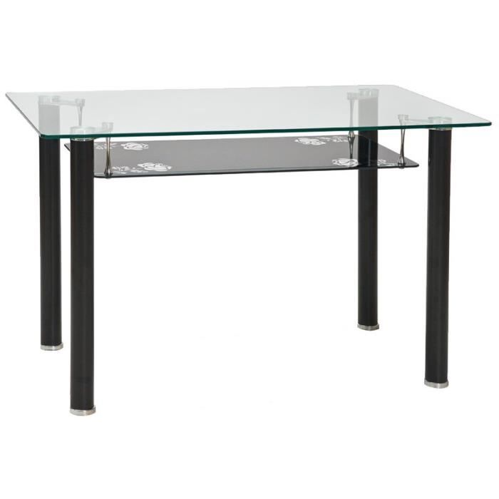 Justhome pino table de salle manger transparent 75 x 75 for Table de 5 6