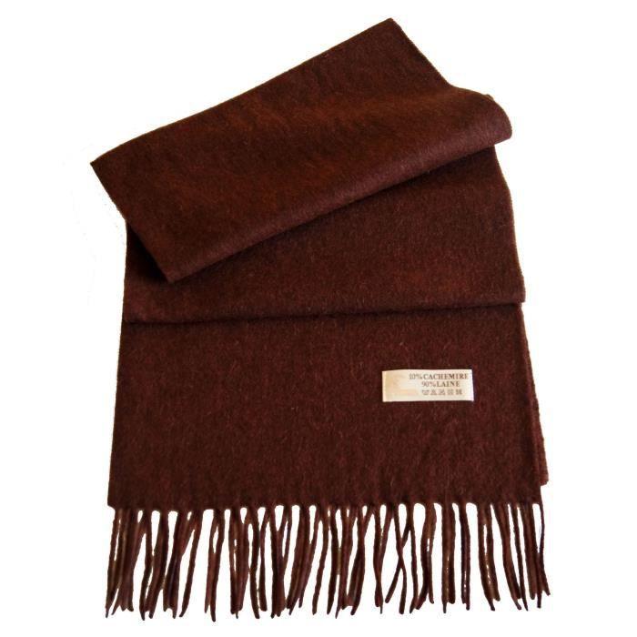 charpe laine et cachemire homme femme marron marron achat vente echarpe foulard cdiscount. Black Bedroom Furniture Sets. Home Design Ideas