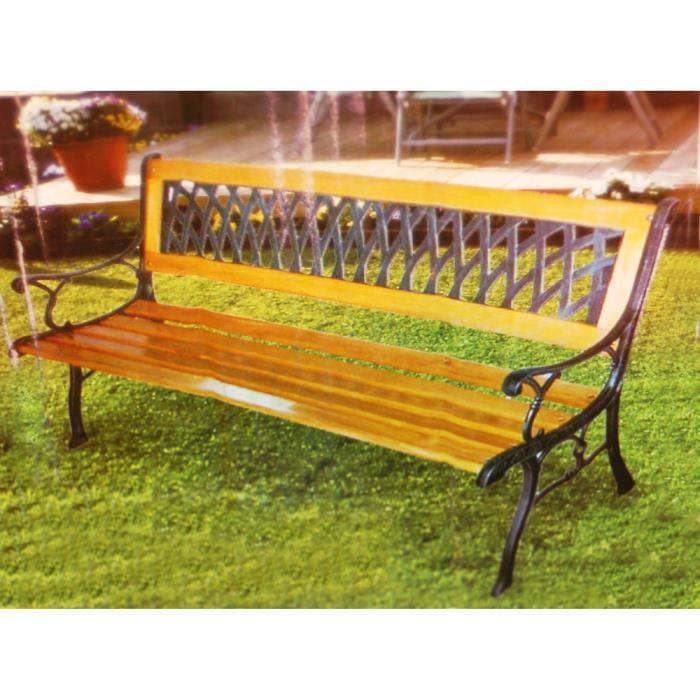 Cast banc de jardin en m tal et bois massif achat - Banc de jardin en metal ...