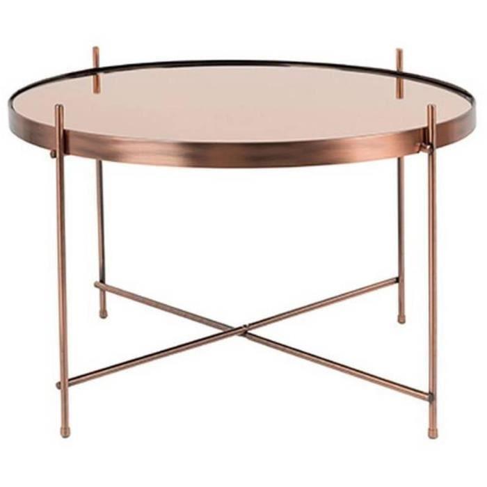 Table basse cupid en cuivre de zuiver 63 x 40 cm achat for Miroir zuiver