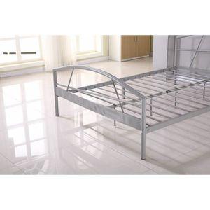 structure de lit en m tal achat vente structure de lit en m tal pas cher cdiscount. Black Bedroom Furniture Sets. Home Design Ideas