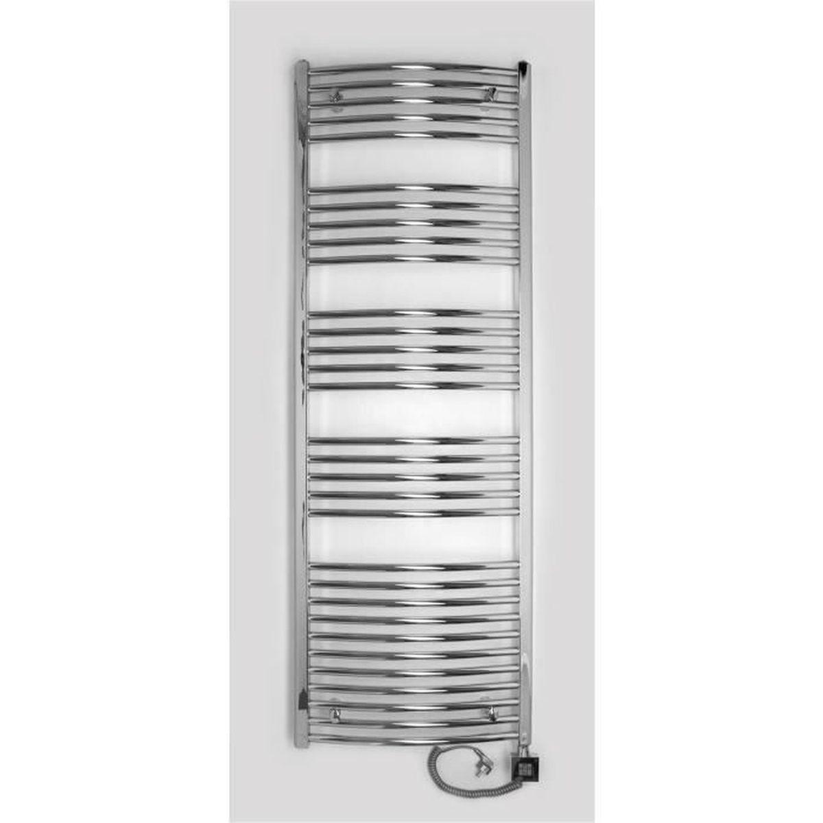radiateur lectrique seche serviette chrom 509 watts barres courb es 1775htx500l achat. Black Bedroom Furniture Sets. Home Design Ideas