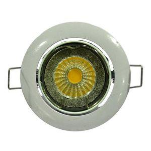 Spot encastrable LED diam?tre 8,2 cm GU10 5W équivalent ? 40W blanc
