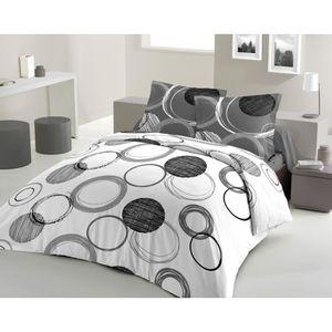 housse de couette 200x200 beige achat vente housse de couette 200x200 beige pas cher cdiscount. Black Bedroom Furniture Sets. Home Design Ideas