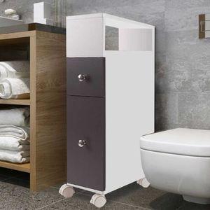 Meuble wc achat vente meuble wc pas cher cdiscount for Meuble rangement tres etroit