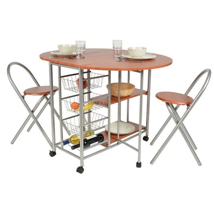 Ensemble de 3 pi ces table de cuisine avec deux tabourets - Table cuisine avec tabouret ...