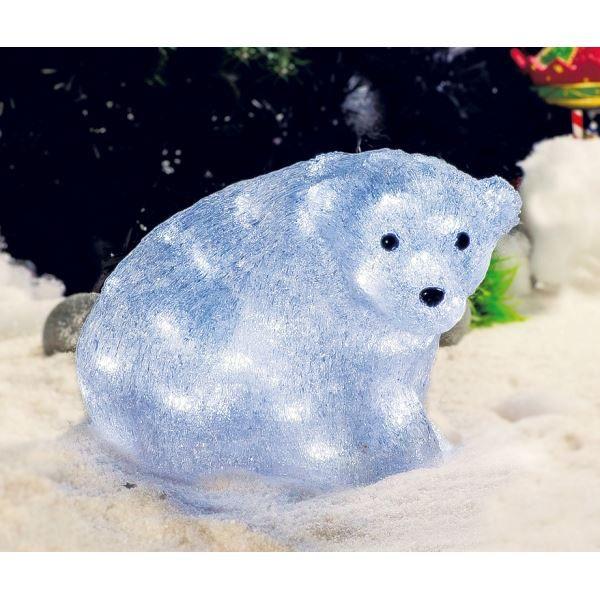 Superbe illumination de no l ours polaire l achat vente boule de no l acrylique for Illumination exterieure pour noel
