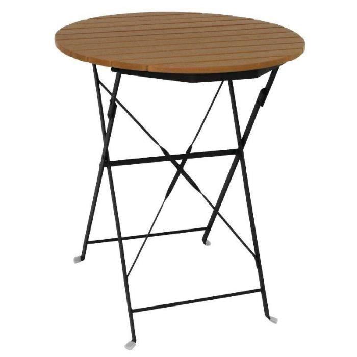 table ronde exterieur bois achat vente table ronde exterieur bois pas cher les soldes sur. Black Bedroom Furniture Sets. Home Design Ideas