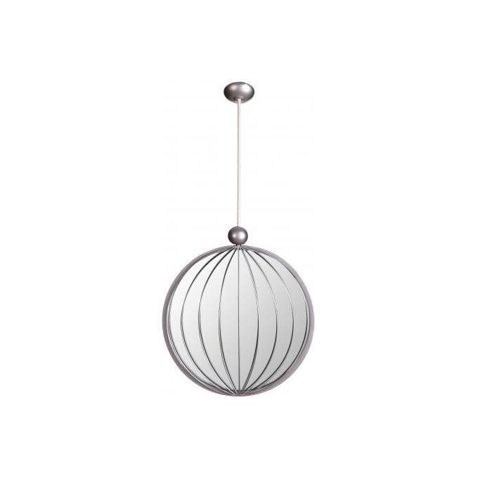 Miroir rond suspendu argent 30 x 133 cm pendentif achat for Miroir rond xxl