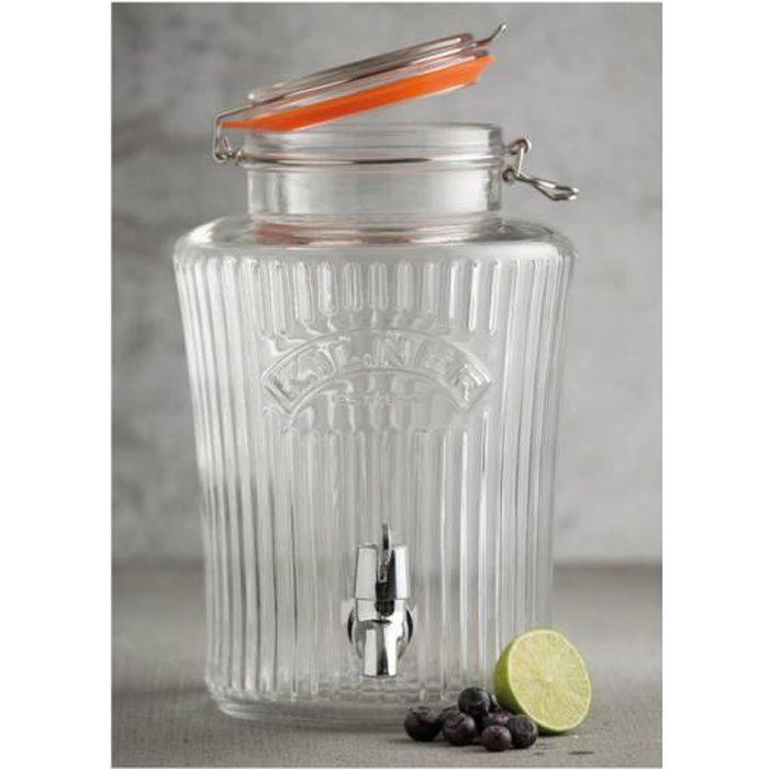 fontaine boisson ronde en verre vintage 5l achat vente fontaine a eau soldes d hiver. Black Bedroom Furniture Sets. Home Design Ideas