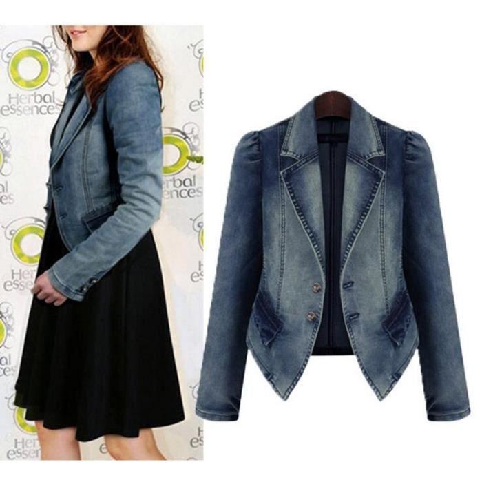 2016 femmes veste en jean taille plus 5xl printemps longue veste en jean pour les femmes jeans. Black Bedroom Furniture Sets. Home Design Ideas